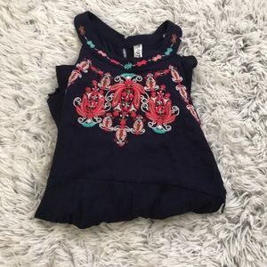 Girls embroidered romper